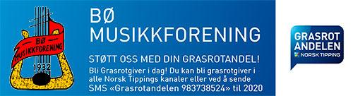 Bø Musikkforening plakat